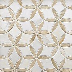 Marseille Crema Royal Dolomite Waterjet Mosaic