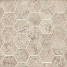 Tarsus Almond II Hexagon Porcelain Mosaic
