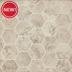 New! Tarsus Almond II Hexagon Porcelain Mosaic