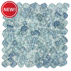 New! Crystal Cove Glass Pebble Mosaic