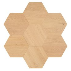 Midtown Light Oak Wire-Brushed Hexagon Engineered Hardwood