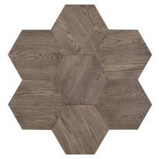 Midtown Gray Oak Wire-Brushed Hexagon Engineered Hardwood