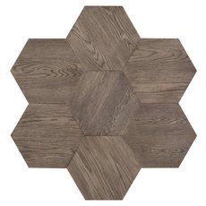 Midtown Gray Oak Wire-Brushed Hexagon Engineered Hardwood