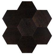 Midtown Dark Oak Wire-Brushed Hexagon Engineered Hardwood