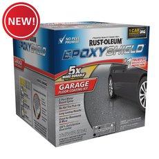New! Rust-Oleum Epoxy Shield Dark Gray 1 Car Garage Floor Coating Kit