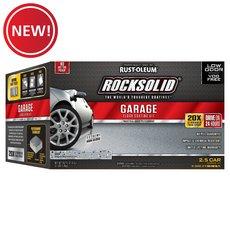 New! Rust-Oleum Rocksolid Gray 2-1/2 Car Garage Floor Coating Kit
