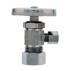 Jones Stephens 5/8in. x 3/8in. Chrome Plated Quarter Turn Angle Stop