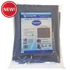 New! Compotite 6x8 Pre-Cut Shower Pan Kit
