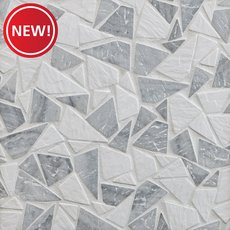 New! Avant Gray Tumbled Pebble Mosaic