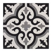 Equilibrio Black IV Encaustic Cement Tile