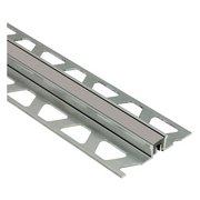 Schluter Dilex-Ksn 3/8in. Anodized Aluminum w/ 7/16in. Joint Grout Gray