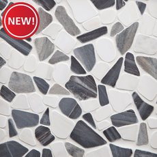 New! Paradiso Dolomite Honed Pebble Mosaic