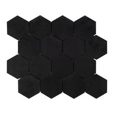 Basalt 3 in. Hexagon Mosaic