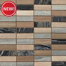 New! Savoy Tower Honed Marble Mosaic