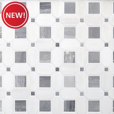 New! Dolomite Basket Weave Polished Marble Mosaic