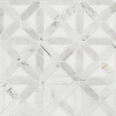 Canterbury Calacatta Thassos Polished Marble Mosaic