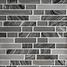 Caspian Linear Glass Mosaic