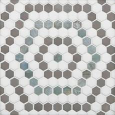 Cannes Hexagon Glass Mosaic