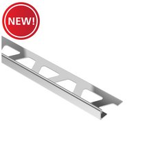 New! Schluter Schiene Edge Trim 3/8in. Stainless Steel