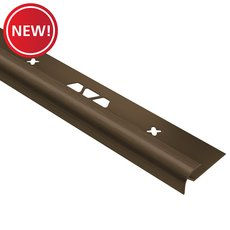 New! Schluter Vinpro-RO Bullnose 1/4in. Aluminum Brush Bronze