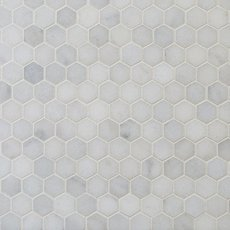 Chateau 1 in. Hexagon Honed Carrara Marble Mosaic