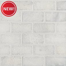New! Chateau Brick Tumbled Carrara Marble Mosaic