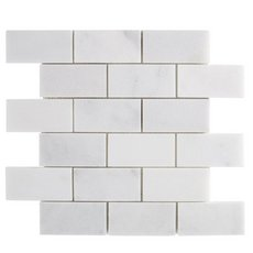 Chateau Brick Honed Carrara Marble Mosaic