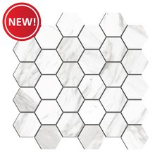 New! Cesari III Matte Hexagon Porcelain Mosaic