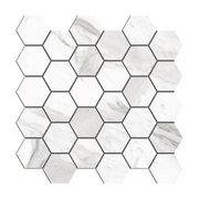 Cesari III Polished Hexagon Porcelain Mosaic