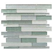 Verde Mist Linear Glass Mosaic