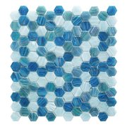 Capri 1 in. Hexagon Glass Mosaic