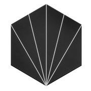 Kavala Black Matte Porcelain Tile