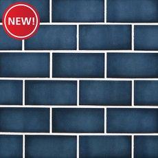 New! La Belle Antique Blue Polished Ceramic Mosaic