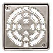 Schluter Kerdi-Drain 4in. Grate Nickel