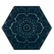 Gashira Hex Indigo Ceramic Tile