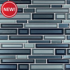 New! Veronique Vetro Linear Glass Mosaic