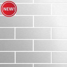 New! Metropolitan Stainless Steel 2 x 6 in. Brick Mosaic
