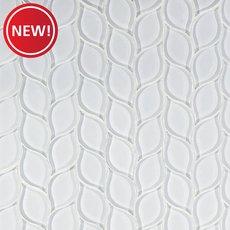 New! Winter Cloud Leaf Glass Mosaic