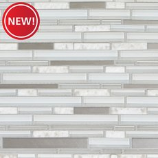 New! Northern White Stone Metallic Glass Mosaic