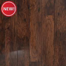 New! Coffee Hickory Hand Scraped Water Resistant Laminate