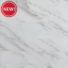 New! Volakas Stone Marble Rigid Core Luxury Vinyl Tile - Foam Back
