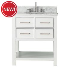 New! Brooks 31 in. Vanity with Carrarra Marble Top
