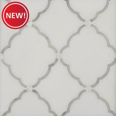 New! Eden III Thassos and Mother of Pearl Waterjet Mosaic