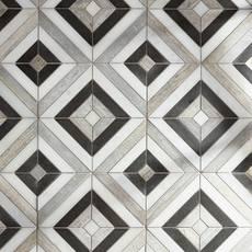 Prismatic II Carrara Blend Marble Mosaic