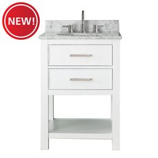 New! Brooks 25 in. Vanity with Carrarra Marble Top