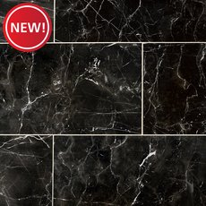 New! Sarengetti Black II Polished Porcelain Tile