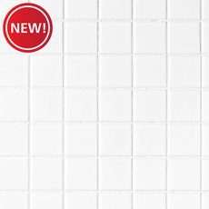 New! White 2 in. Square Polished Porcelain Tile