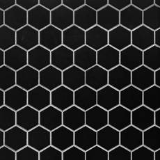 Black Matte 2 in. Hexagon Porcelain Mosaic