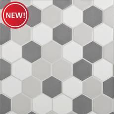 New! Light Blend Matte 2 in. Hexagon Porcelain Tile