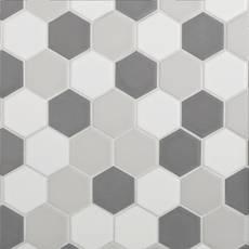 Light Blend Matte 2 in. Hexagon Porcelain Tile